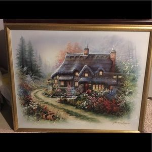 "Little Cottage - 32"" x 26"" Framed Art"